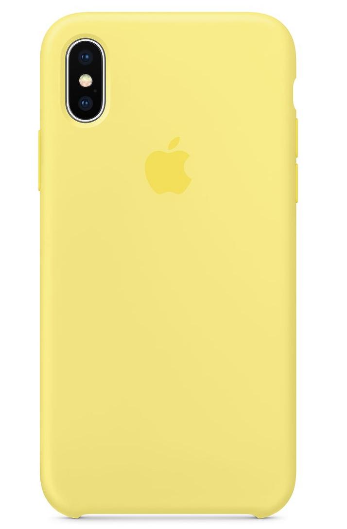 Силиконовый чехол для iPhone X, цвет «холодный лимонад»