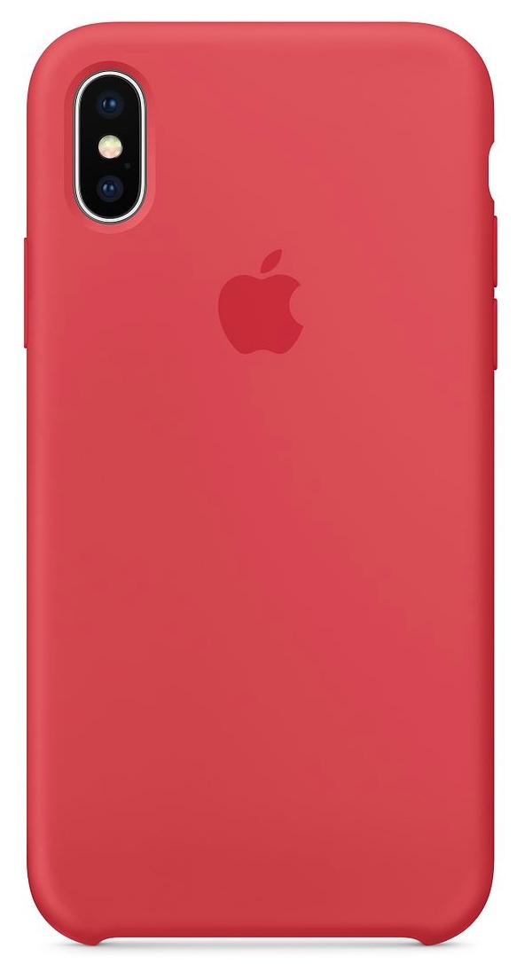 Силиконовый чехол для iPhone X, цвет «спелая малина»
