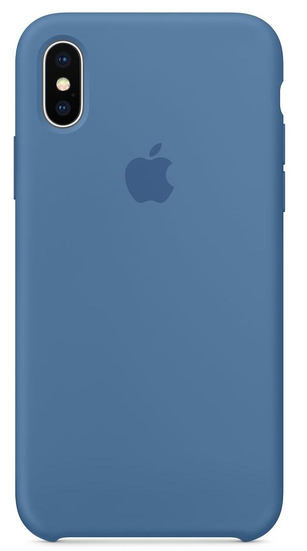 Силиконовый чехол для iPhone X, цвет «синий деним»