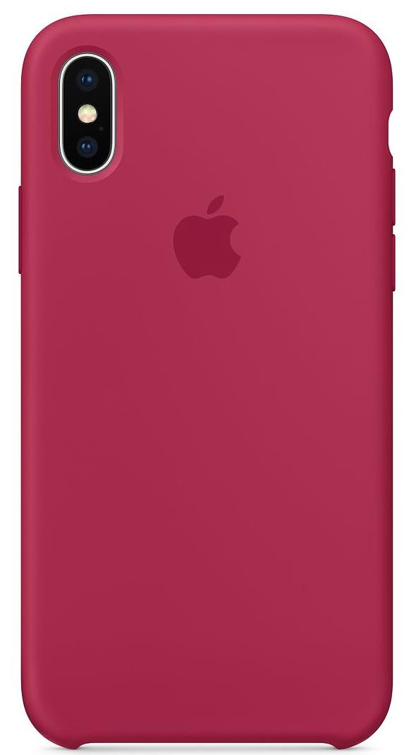 Силиконовый чехол для iPhone X, цвет «красная роза»