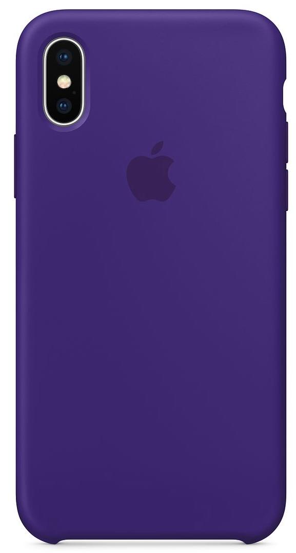 Силиконовый чехол для iPhone X, цвет «ультрафиолет»