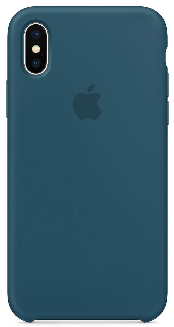 Силиконовый чехол для iPhone X, цвет «космический синий»