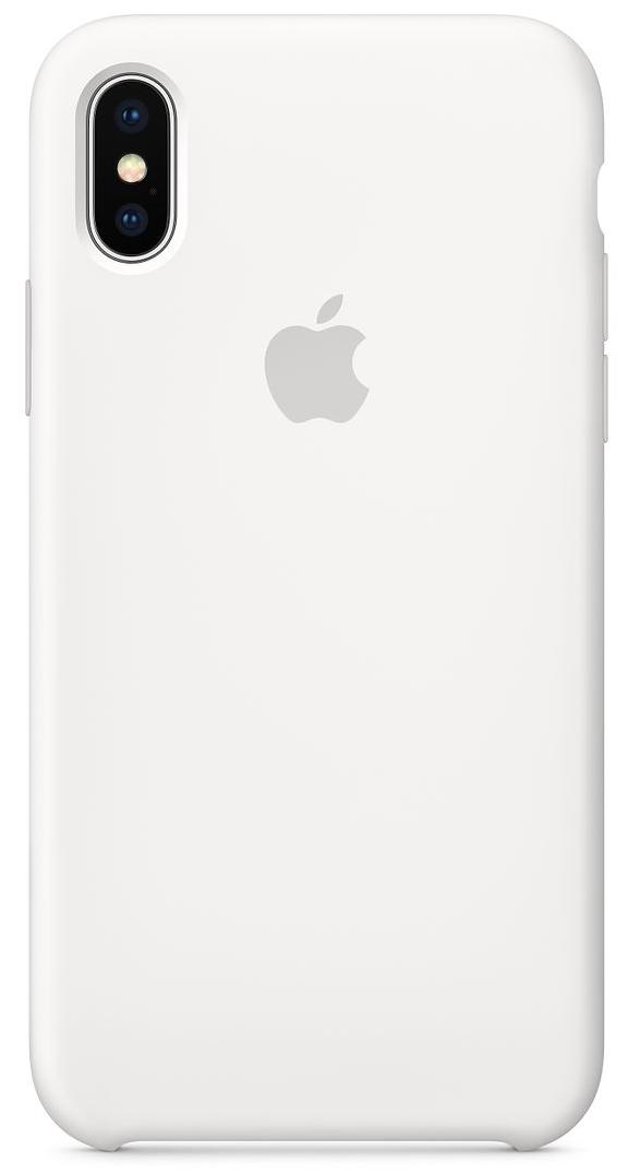 Силиконовый чехол для iPhone X, белый цвет