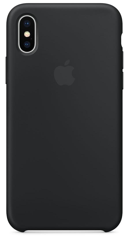 Силиконовый чехол для iPhone X, чёрный цвет