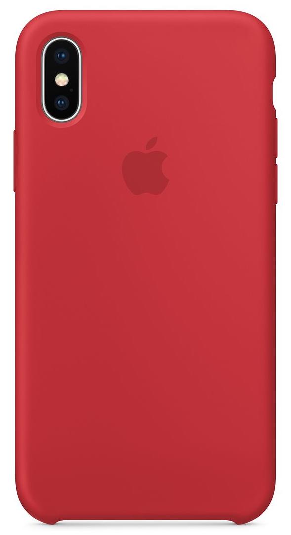 Силиконовый чехол для iPhone X, (PRODUCT)RED