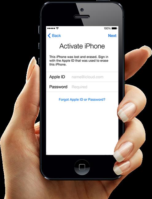 Удаления iCloud iPhone