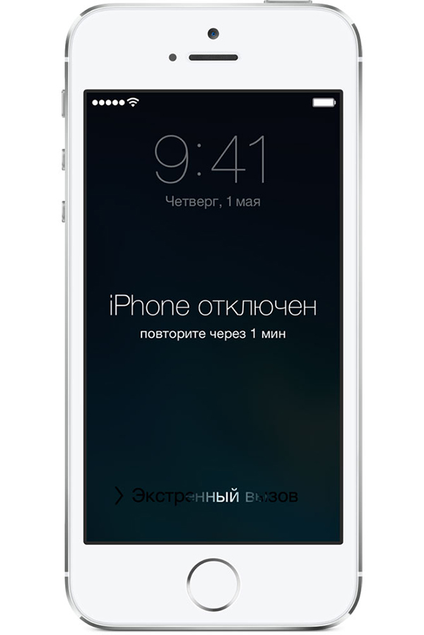 Снятие пароля iPhone